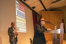Ansprache von Dr. Pilar Baumeister; Foto: Jürgen Seidel